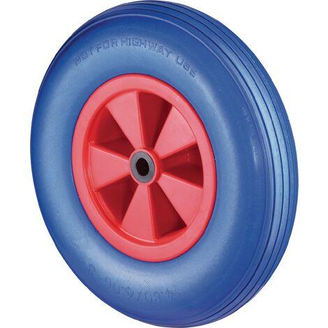 Roue en polyuréthane Ø de la roue 260 mm Capacité de charge 1 à l'épreuve des pannes plastique rainuré