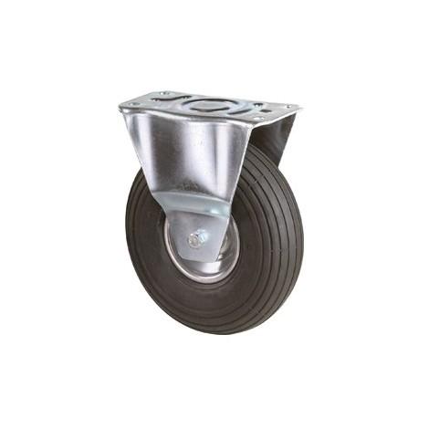 Roue gonflable Ø de la roue 200 mm Capacité de charge 7 roulette fixe avec plaque de fixation profil rainuré