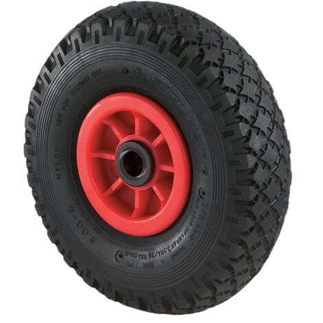 Roue gonflable Ø de la roue 400 mm Capacité de charge 1 roue de rechange profil rainuré palier à rouleaux