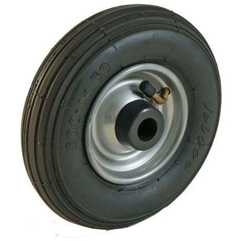 Roue gonflable diamètre 200 x 50 mm alésage 20 mm corps tôle roulement à rouleaux