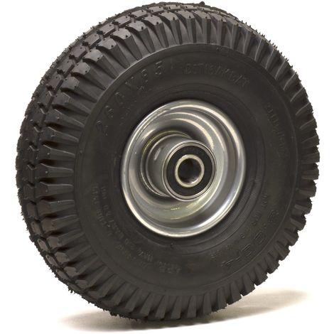 Roue gonflable diamètre 260 x 85 (3.00-4) alésage 25 mm corps tôle roulement à billes