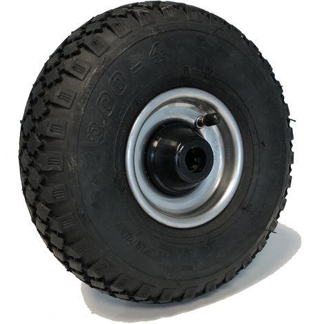 Roue gonflable diamètre 260 x 85 (3.00-4) alésage 25 mm corps tôle roulement à rouleaux