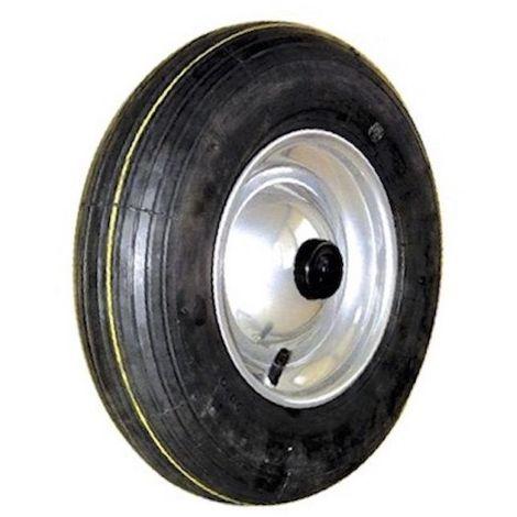 Roue gonflable diamètre 400 x 100 alésage 25 mm coprs tôle roulement à rouleaux