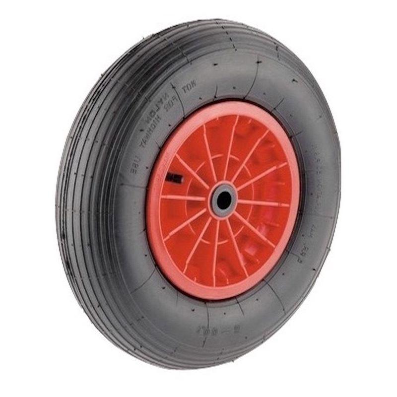 Roue increvable corps rouge 260 x 85 LM75 AL25 /à rouleaux charge 75 Kg