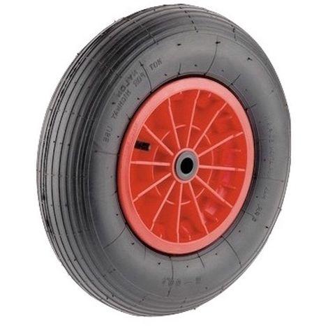 Roue gonflable diamètre 400 x 100 alésage 25 mm roulement à rouleaux