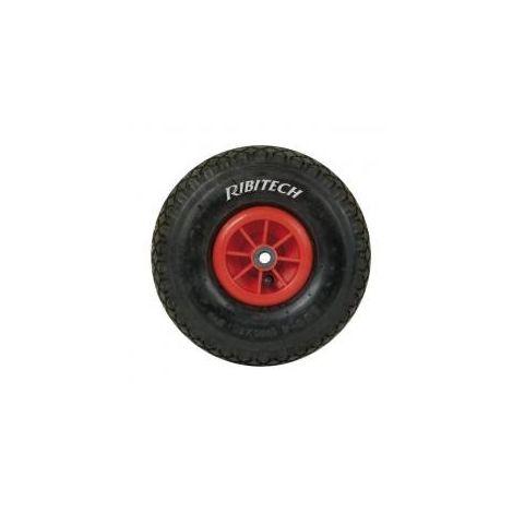 Roue gonflable pour brouette 400mm axe 25 mm avec roulements à aiguilles