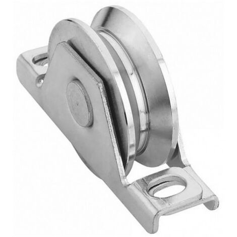 Roue gorge V pour portail 20mm à encastrer - Ø120mm