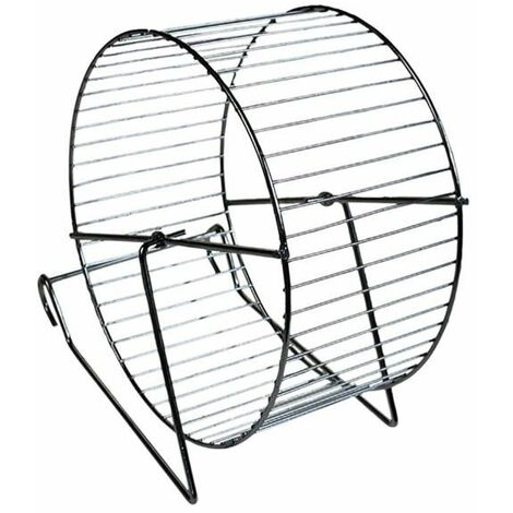 Roue hamster métal/chrome 12cm