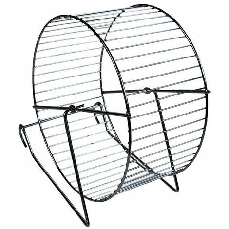 Roue hamster métal/chrome 15cm