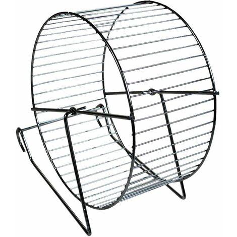 Roue hamster métal/chrome 20cm