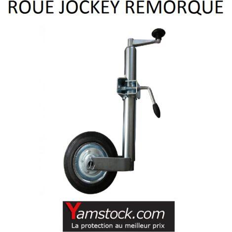 Roue jockey diam 48mm metal + collier pour Remorque Caravane