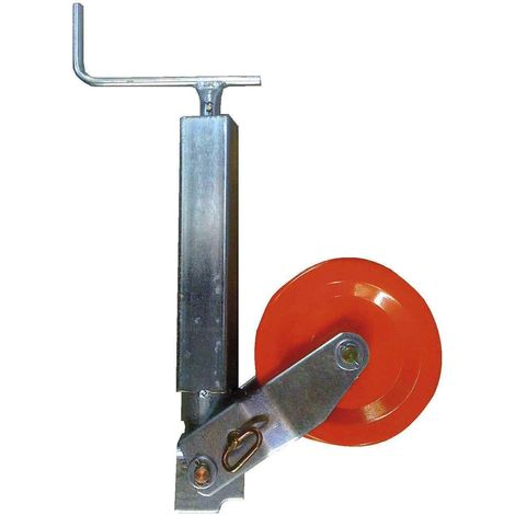 Roue jockey renforcée carré de 70 avec galet acier 250x100 mm