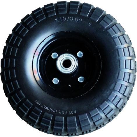 roue pleine 260 mm en polyuréthane - Axe 16 mm