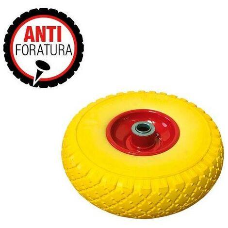 Roue pleine en polyuréthane trou trou de 20mm sans perforation (260x85 mm) - VERDELOOK