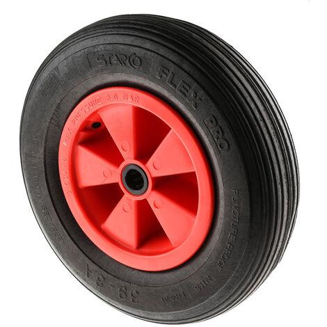 Roue pneumatique PP, à bandage Caoutchouc Pneumatique 380mm x 63mm, Roulement à rouleaux, axe 25mm x 90mm