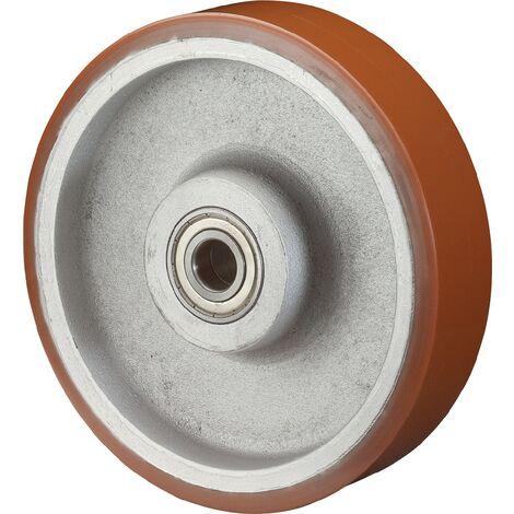Roue polyuréthane, Corps en fonte - 100 mm