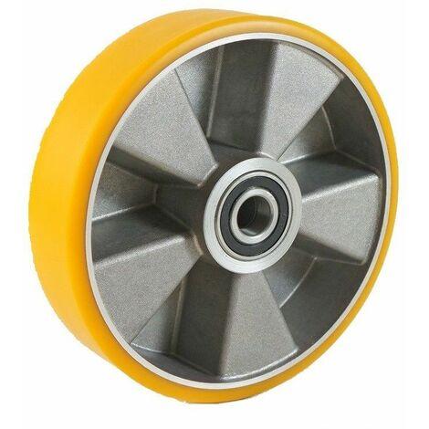 "main image of ""Roue polyuréthane jante aluminium 125 x 40 LM45 AL15 (Fenwick)"""