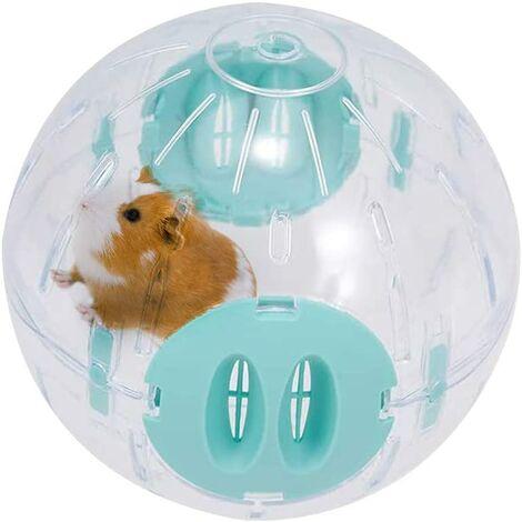 Roue pour Hamster, Roue de Course pour Hamster, Roue d'Exercice Plastique pour Les Petits Animaux de Compagnie, Roue de Course Dorée en Soie, Activité Intéressante Qui Se débarrasse de l'Ennui (Bleu)