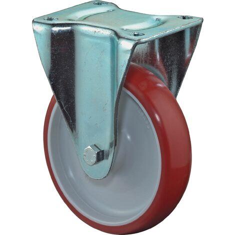 Roue rouge 100 mm 125 KG