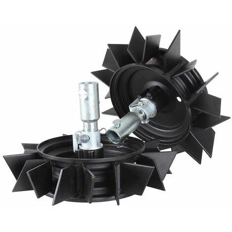 Roues métalliques 400x8 pour motobineuse et motoculteur Texas - Noir