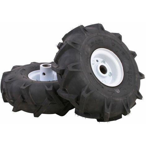 Roues pneumatique Texas 12 pouces pour motobineuse thermique - Noir