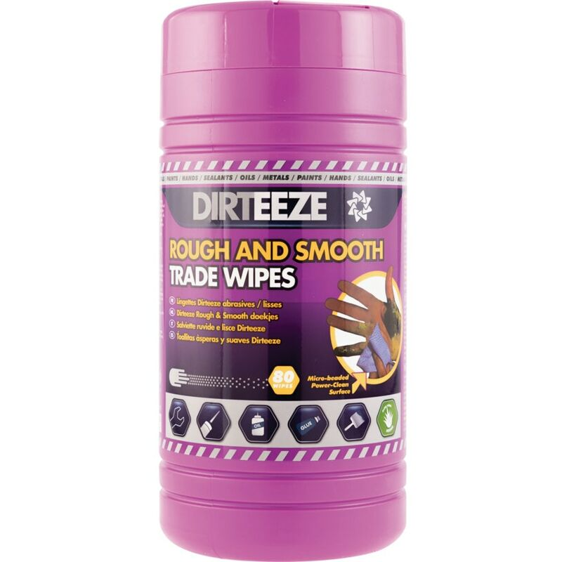 Image of Rough & Smooth Trade Wipe Canister, Pack Qty 80 - Dirteeze