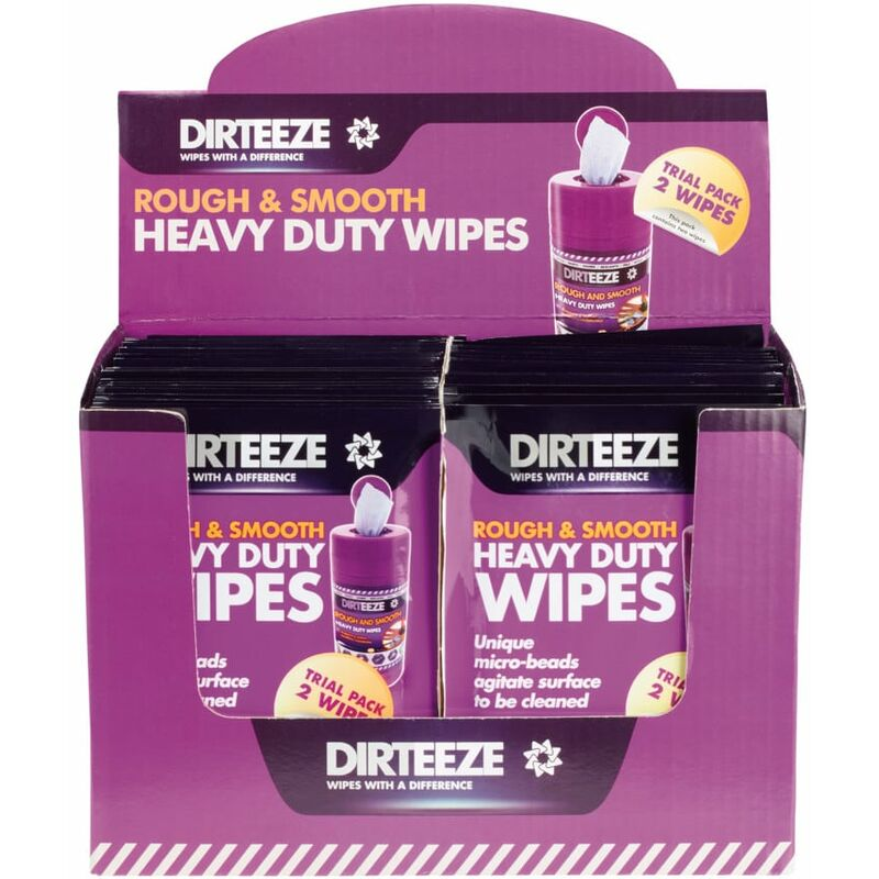 Image of Rough & Smooth Trade Wipe Sachets, Pack Qty 100 - Dirteeze