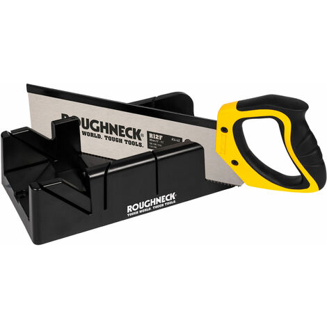 Roughneck 34-490 Mitre Box & Hardpoint Tenon Saw Set 300mm (12in)