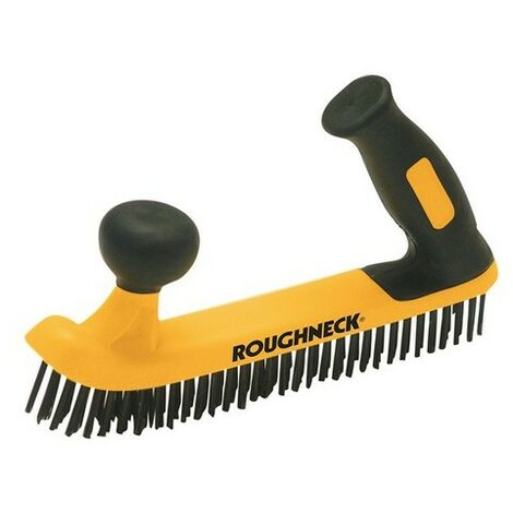 Roughneck 52-052 Two Handed Wire Brush Soft Grip