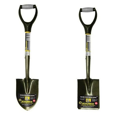 "Roughneck Micro Shovel Spade Square & Round Head 27"" 68-006 68-004 68-005"
