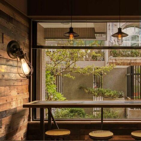 Applique Retro De Café Pour Maison Luminaire Vintage Champagne Noire Industrielle Rouille Murale 2Y9DHWEIe