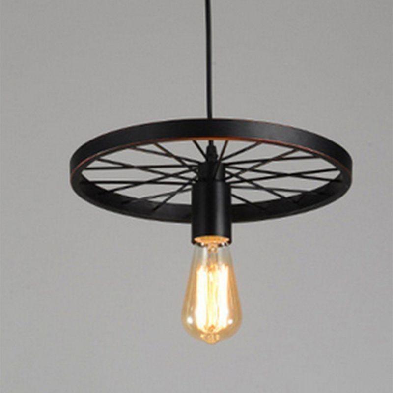 Rouille E27 Retro Métal Plafonnier Suspensions Luminaire Créatif Plafond  Lustre Industriel Vintage Suspensions Luminaire Antique Pendentif éclairage  ...