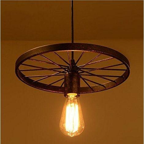 Rouille E27 Retro Métal Plafonnier Suspensions Luminaire Créatif Plafond  Lustre Industriel Vintage Suspensions Luminaire Antique Pendentif