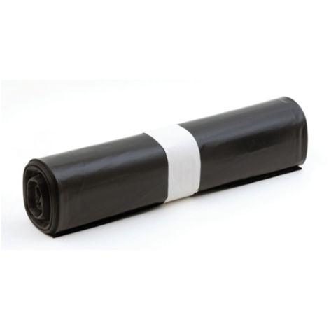 Rouleau 20 sacs poubelle noir BD 50L 28 microns - 992
