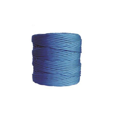 Rouleau 200mt. corde tressée 4mm. bleu