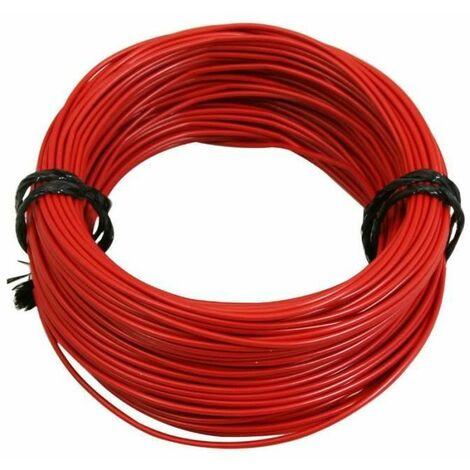 Rouleau 5m fil électrique 0,5mm² cuivre rouge câble souple faisceau