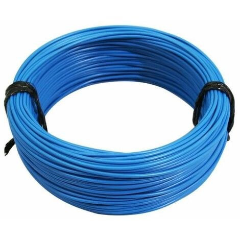 """main image of """"Rouleau 5m fil électrique 1mm² cuivre bleu câble souple faisceau"""""""