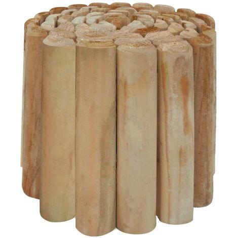 Rouleau à bordure de pelouse Bois de pin imprégné 250x30 cm
