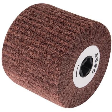 Rouleau abrasif nylon 100 x 115 mm - Tambour en tissu de nylon grain 180 100 x 115 mm