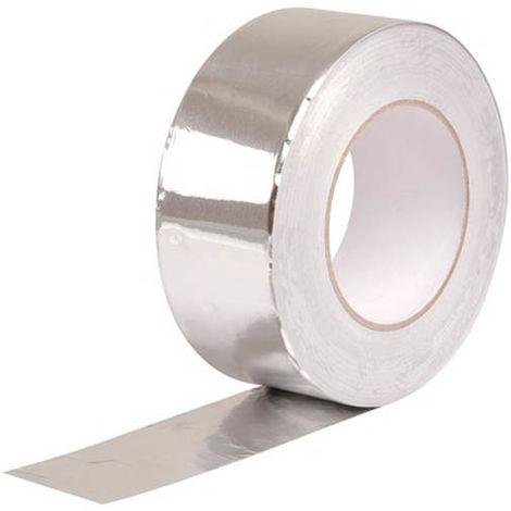 Rouleau adhésif revêtement type aluminium largeur 50mm - 45ml