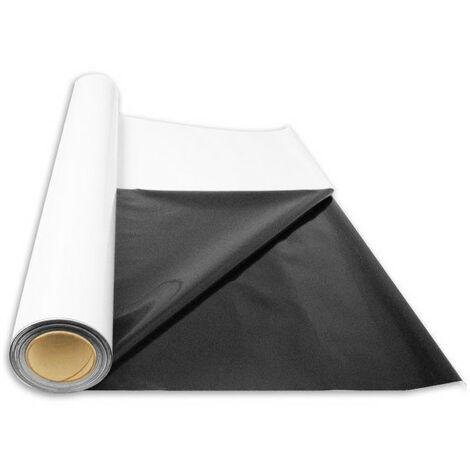 Rouleau bâche noire/blanche 30m - Superplant Papier Réflechissant