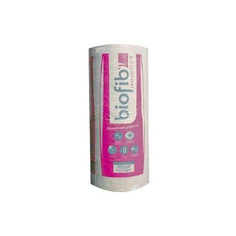 Rouleau chanvre, lin, et coton BIOFIB TRIO | Ep.100mm paquet de 2 rouleaux 3,4x0,6mm | R=2,55 Acermi N° 14/130/962 - paquet(s) de 2.04m²
