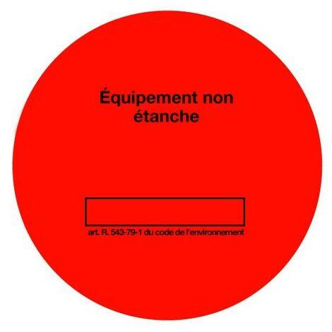 Rouleau de 100 étiquettes de contrôle étanchéité rouges