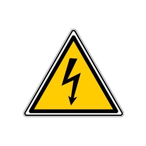 Rouleau de 1000 étiquette adhésif danger électrique