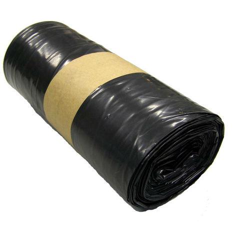 Rouleau de 20 Sacs poubelle 100L noir supérieur 50µ - SACS0036