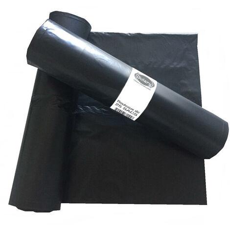 Rouleau de 25 sacs poubelles 100 Litres Noir 45 microns - Dulary