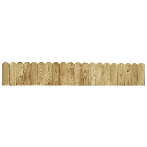 Rouleau de bordure Vert 120 cm Bois de pin imprégné