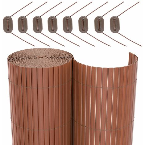 Rouleau de Canisse PVC Clôture PVC pour Jardin Balcon Terrasse Beige 100 x 500cm) GPF3105M - beige