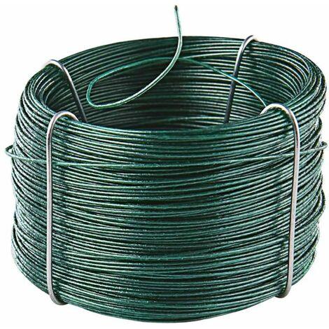 Rouleau de fil de fer plastifié 50 Mètres - Vert