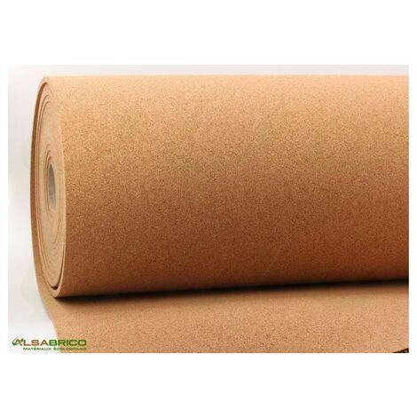 Rouleau de liège, sous-couche isolante haute densité épaisseur 10mm | 10mm - 10 m²